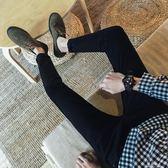 秋冬季九分牛仔褲男青少年小腳修身型韓版黑色百搭男士長褲子潮流 完美情人精品館