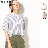 法國亞麻上衣 立領襯衫 女免運費 日本品牌【coen】