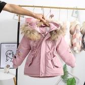 女童派克服秋冬裝棉衣2019新款洋氣兒童棉服冬季加絨加厚外套棉春 滿天星