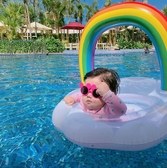 兒童雲朵彩虹座圈 泳圈 座圈 坐圈 水上用品 游泳圈 小童 女童 男童 泳池 游泳 海邊 橘魔法 現貨