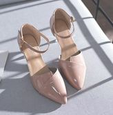 [gogo購]尖頭高跟鞋單鞋5cm一字扣 3色