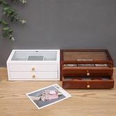木質首飾盒收納盒女中國風復古首飾收納盒韓國公主飾品盒結婚禮物中秋特惠
