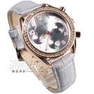 香港古歐 GUOU 閃耀時尚腕錶 三眼造型 日期顯示窗 真皮皮革錶帶 女錶 灰x玫瑰金 GU8103玫灰