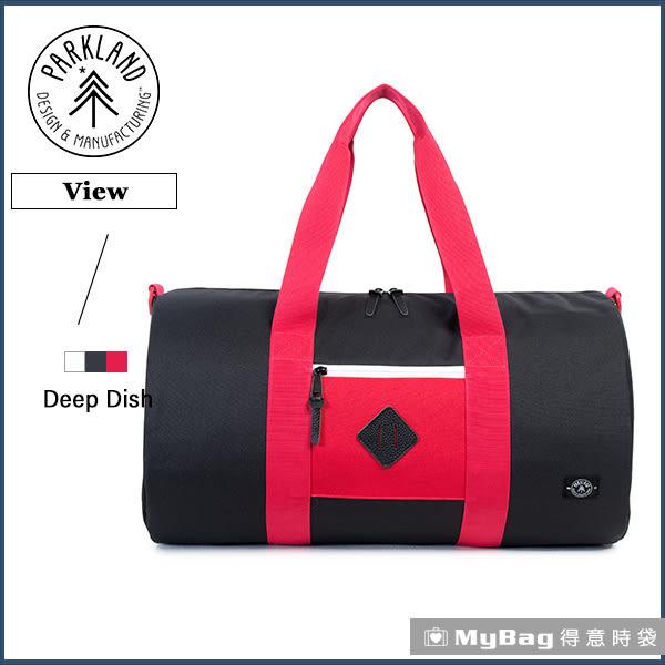 Parkland 旅行袋 紅黑 休閒大容量側背包 View-062 MyBag得意時袋