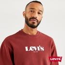 Levis 男款 重磅大學T / 寬鬆休閒版型 / 高密度膠印Logo / 425GSM厚棉 / 赭紅