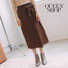 Queen Shop【03020591】層次綁帶造型長裙 兩色售*現+預*