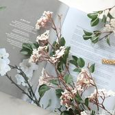 高桿野花枝 客廳裝飾仿真花室內花絹花  客廳插花擺件