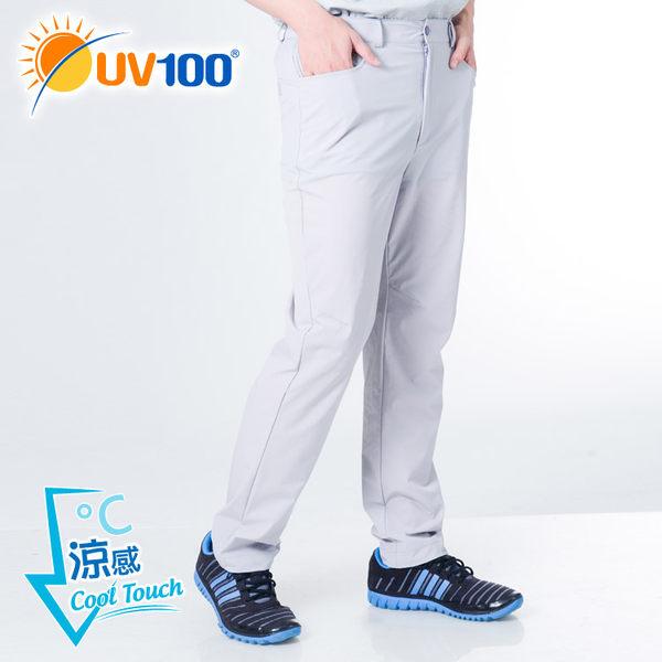 UV100 防曬 抗UV-涼感彈力修身直筒褲-男
