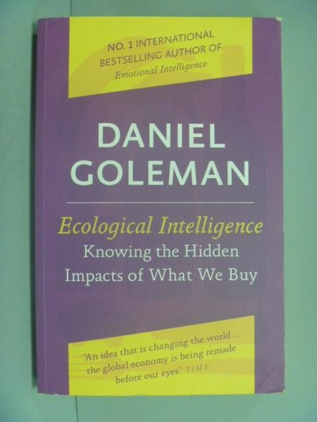 【書寶二手書T7/財經企管_ZBB】Ecological Intelligence_DANIEL GOLEMAN