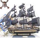 實木質海盜船大帆船模型裝飾品小擺件...