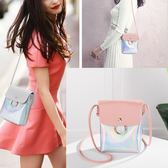 小包包女包夏季上韓版時尚百搭斜背包鐳射小方包側背包 奇思妙想屋