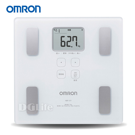 OMRON 歐姆龍 體脂計 HBF-217 白色