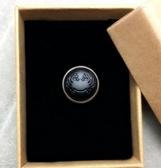 天然黑曜石戒指12生肖守護 星座十二屬相 925銀活口男士/女士款