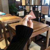 通體s925純銀雙層戒指單邊微鑲鋯石時尚個性小眾設計食指戒女 歌莉婭