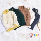 兒童打底衫加厚男童女童上衣秋冬棉質寶寶高領T恤刷毛保暖打底衫