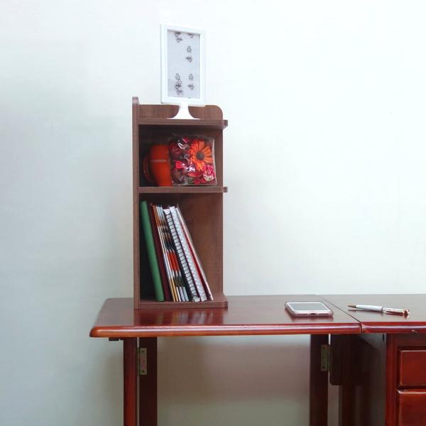 ONE HOUSE-DIY-仿古紋桌上三層轉角收納櫃/角落櫃/置物架/隙縫櫃