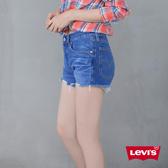 Levis 女款 501 排釦牛仔短褲 / 不規則抽鬚不收邊