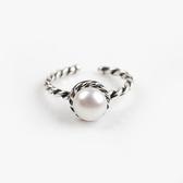 925純銀戒指珍珠-精緻大方麻花生日情人節禮物女配件73ae163【巴黎精品】