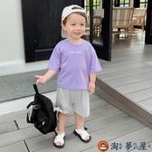 嬰兒短袖T恤男童上衣半袖小童純棉打底衫【淘夢屋】