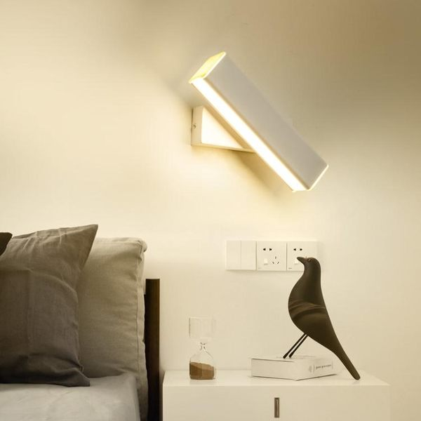 壁燈臥室床頭簡約現代創意過道客廳燈具北歐酒店旋轉調光閱讀壁燈ATF 錢夫人小鋪