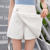 高腰短褲女夏季2020新款韓版百搭寬鬆學生外穿闊腿白色休閒褲裙褲 韓國時尚週