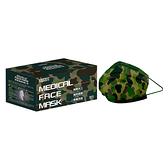 萊潔 醫療防護口罩成人-軍綠迷彩(50入/盒裝)