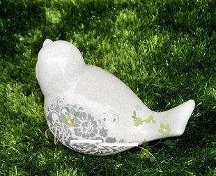 陽臺小景園藝用品 陶瓷小鳥
