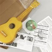 實木制尤克里里小吉他黃色