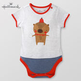 Hallmark Babies 竹系列動物男/女嬰短袖包屁衣 HF1-B73-05-BU-PR