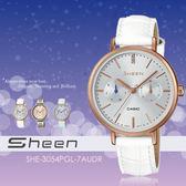 Sheen 個性甜美 34mm/SHE-3054PGL-7A/晶鑽/CASIO/SHE-3054PGL-7AUDR