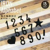 工業風 鑄鐵 數字符號 - 大 日式雜貨 招牌 門牌 看板8