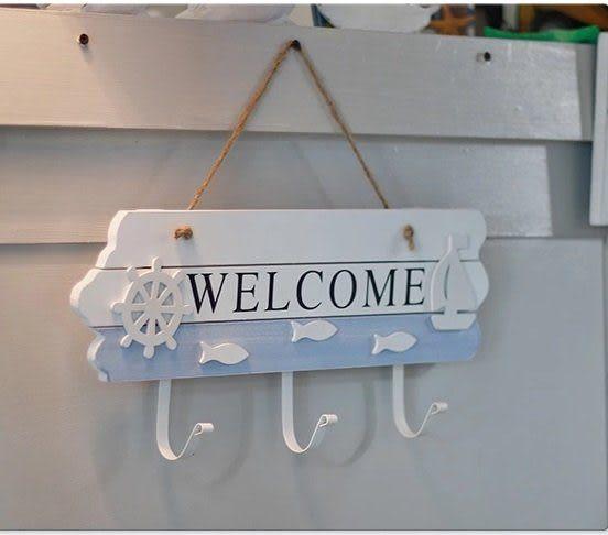 歡迎地中海掛鉤 玄關welcome