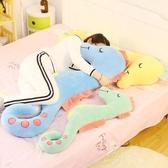 抱枕 娃娃大號長條枕頭可拆洗床頭靠背圓柱靠墊  萬客居