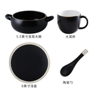 網紅餐具碗一人食早餐套裝北歐簡約創意麥片碗 碗碟套裝家用黑 DJ11749『俏美人大尺碼』