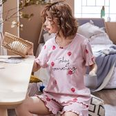 【預購款】居家服夏季新款純棉睡衣套裝女短袖短褲甜美兩件套可外穿42#【時尚潮流部落】