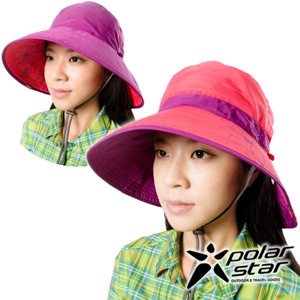 PolarStar 抗UV雙面遮陽帽 女『桃紅』P16510 抗UV帽│登山帽│遮陽帽│圓盤帽│釣魚帽│防曬帽