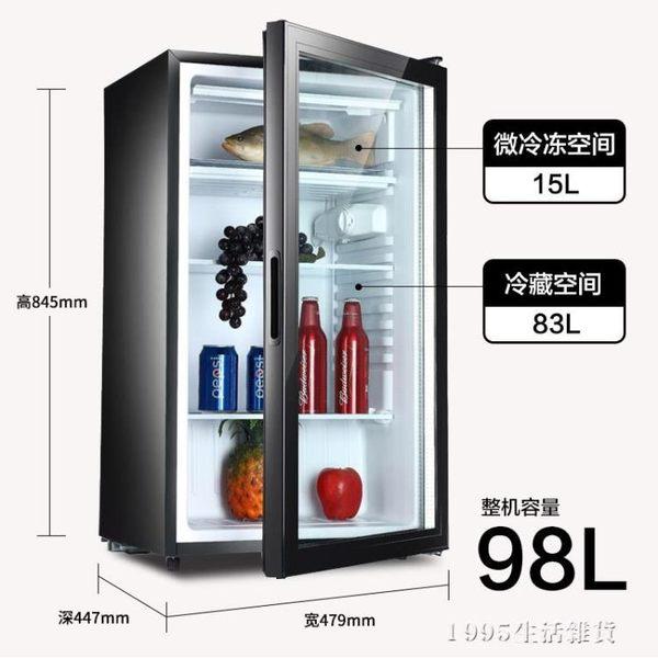 小冰箱雙門冷藏櫃小型家用單門保鮮櫃透明玻璃留樣展示櫃 1995生活雜貨igo