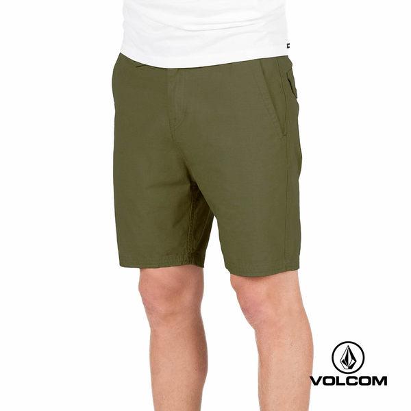 VOLCOM 休閒基本款短褲-軍綠