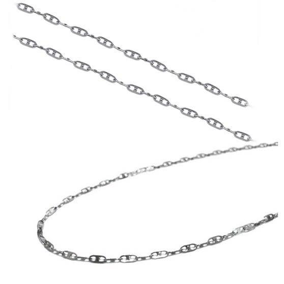 316L醫療鋼項鍊 日字 純鏈子-銀 防抗過敏 不退色