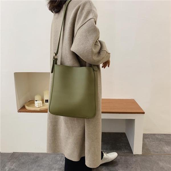 手提包 寬肩帶包包女包新款正韓大容量斜挎包簡約單肩手提包大包【快速出貨】
