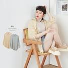 方塊格紋澎袖棉麻襯衫上衣-BAi白媽媽【310415】