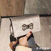 宴會包 女2019新款潮韓版百搭斜挎鏈條單肩時尚小方包 QX7961 『愛尚生活館』