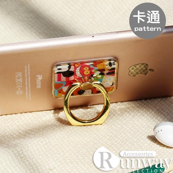 卡通金邊質感指環支架 蘋果三星HTC手機指環支架 附背貼 通用型指環支架 手機支架 平板支架