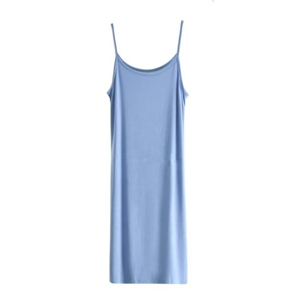 新鮮貨 外穿莫代爾吊帶背心裙女夏季防透內襯打底無袖連衣裙內搭休閑長裙