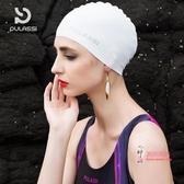 泳帽 女長髮韓國時尚可愛防水硅膠成人大號不勒頭男士游泳帽 5色