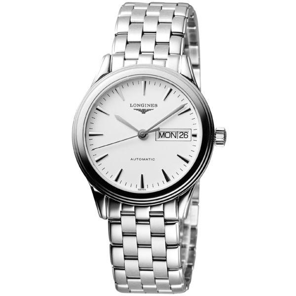 LONGINES 浪琴 Flagship 優雅旗艦機械腕錶/手錶-白 L47994126