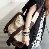 韓版帆布雙肩包后背包單肩包潮三用大容量包男包女包 LI1712『時尚玩家』