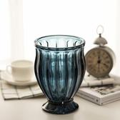 歐式裝飾擺件 土耳其藍城堡玻璃花瓶 創意彩色家居裝飾 插花花器