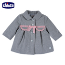 chicco-灰色浪漫-毛料洋裝式外套