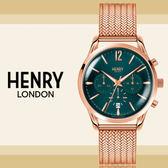Henry London英國前衛品牌復古系列STRATFORD計時腕錶HL39-CM-0142公司貨